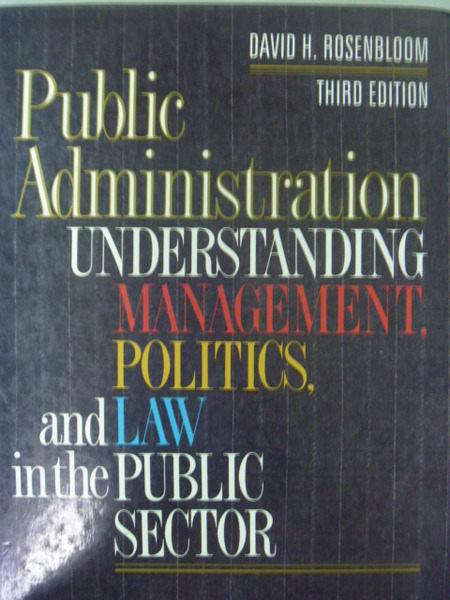 ~書寶 書T7/大學商學_QXN~Public Administration_David