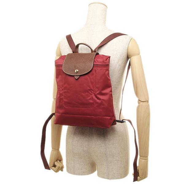 【LONGCHAMP】 LE PLIAGE 紅色折疊後背包 2