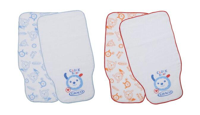 Graco - 純棉印花紗布吸汗巾2入 0