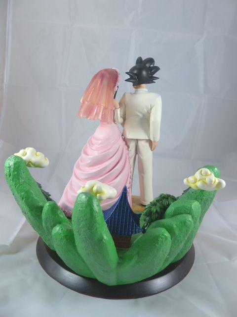 【秋葉園 AKIBA】七龍珠 孫悟空和琪琪的結婚典禮 公仔 GK模型 塗装完成品 限定品 3