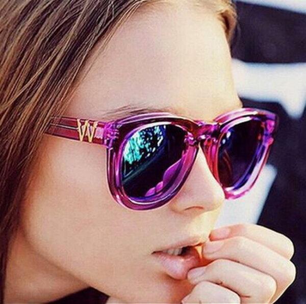 50%OFF【J013665Gls】新款時尚品牌太陽鏡5084復古W明星墨鏡彩膜太陽眼鏡附眼鏡盒