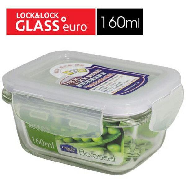 樂扣樂扣微波烤箱玻璃保鮮盒160ml長方型LLG414副食品保存盒-大廚師百貨