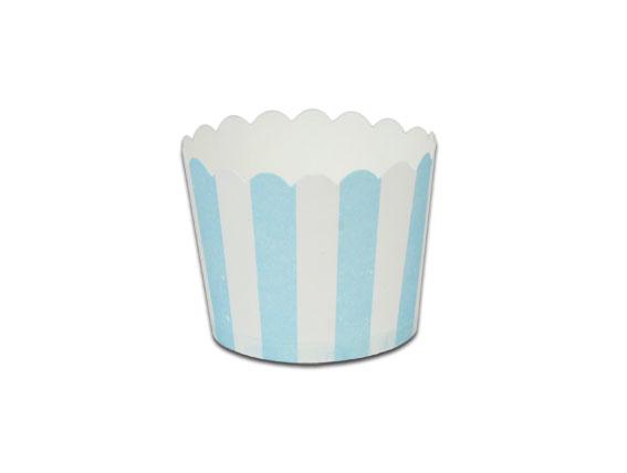 瑪芬杯、杯子蛋糕、烘烤紙杯 MF5040-02 藍白條紋(50pcs/包)