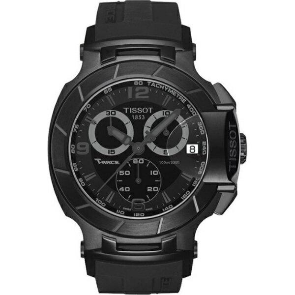 TISSOT天梭T0484173705700賽車系列炫黑計時腕錶/黑面45.3mm