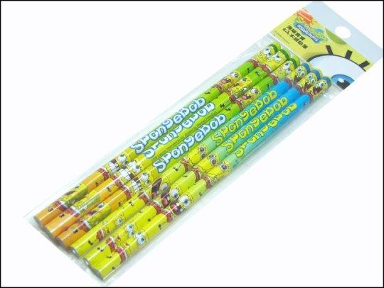 《清倉鋪》海綿寶寶一包6入三角木鉛筆 全家便利超商集點活動加價購商品 16包一組 四組64包平均一隻7元送禮自用兩相宜