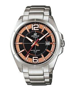 CASIO EDIFICE EFR-101D-1A5簡潔玫瑰金運動腕錶/黑面43mm