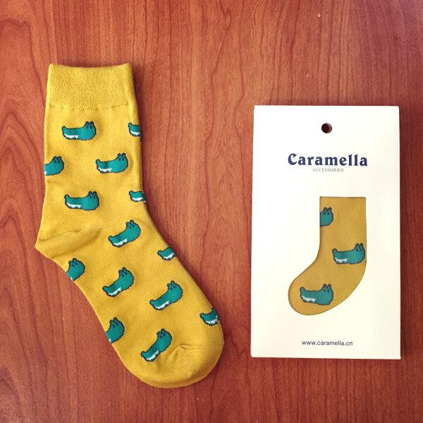 【開幕促銷】Caramella 小鱷魚 中筒襪 短襪 船襪 隱形襪 五指襪 文青情侶 運動穿搭 阿華有事嗎 C0009