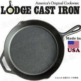 Lodge/12吋經典鑄鐵平底鍋/30cm 鑄鐵鍋/荷蘭鍋/煎炒鍋 Skillet 美國製 L10SK3/台北山水