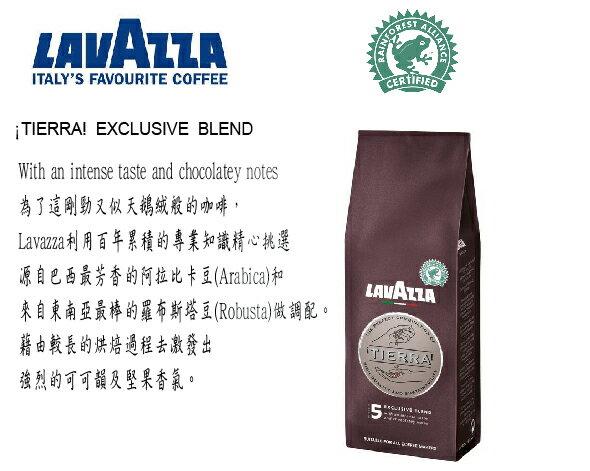 【含運】全省最低價!!【義大利LAVAZZA 老咖啡】 TIERRA 5號咖啡粉_250g_熱帶雨林證
