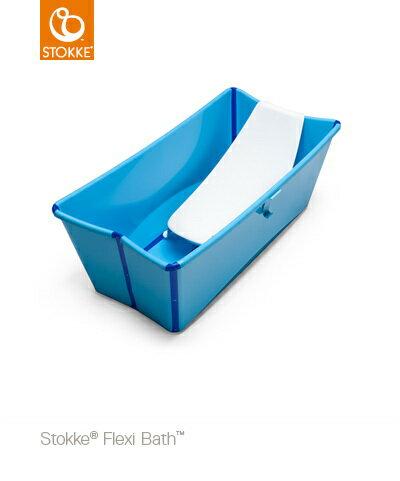 【特惠組】Stokke Flexi Bath 摺疊式嬰幼兒浴盆+浴盆架 1