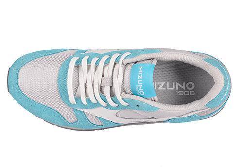 MIZUNO美津濃 復古系列 女休閒款慢跑鞋 藍白 1