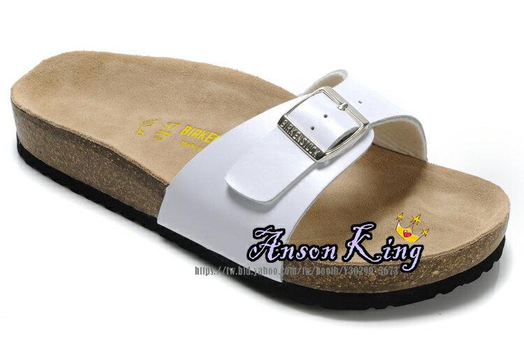 [Anson King]Outlet正品代購 birkenstock Madrid系列 男女款 懶人涼拖鞋 白色 2