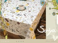 鄉村風zakka雜貨到~*@Sonya頌雅@*~ MYJ001-2 淑女旅行 日系ZAKKA風棉麻桌布 餐桌布 蓋布 (原價$780特價$499)