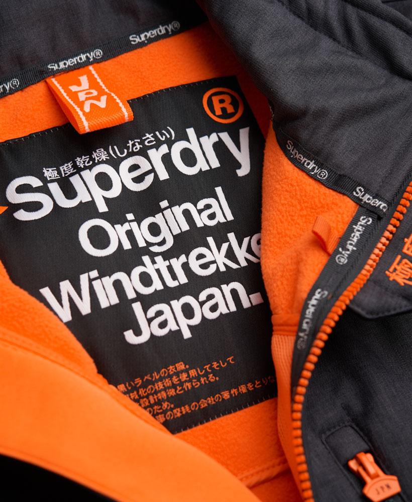 英國名品 代購 極度乾燥 Superdry Windtrekker 男士風衣戶外休閒外套 防水 深灰/螢光橙 3
