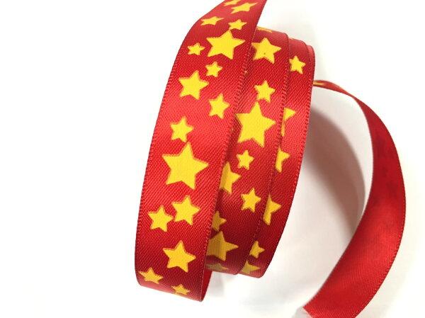 雙緞面緞帶-GOLD STAR 15mm 3碼裝
