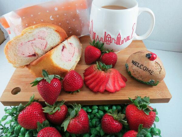 【Bliss Castle】首創灌飽包#爆漿麵包#草莓(四入一盒)#下午茶#夏日野餐趣#多種吃法#