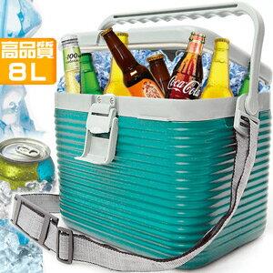 攜帶式8L冰桶^(8公升冰桶行動冰箱釣魚冰桶.超輕量行動冰箱.保冰桶冰筒保冷桶保冰箱保冷箱