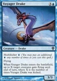 【Playwoods】 MTG 魔法風雲會 WWK No. 045 Voyager Drake 飛航龍獸 UC卡(白卡非普藍生物)