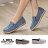 格子舖*【AA680】MIT台灣製 編織色線不規則刷邊牛仔布 休閒風懶人鞋 布面鞋 3色 0