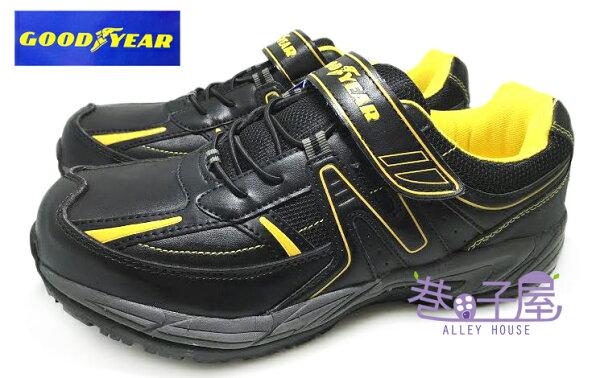 【巷子屋】GOODYEAR固特異 男款多功能防臭鋼頭防護運動鞋 [43780] 黑黃 超值價$590