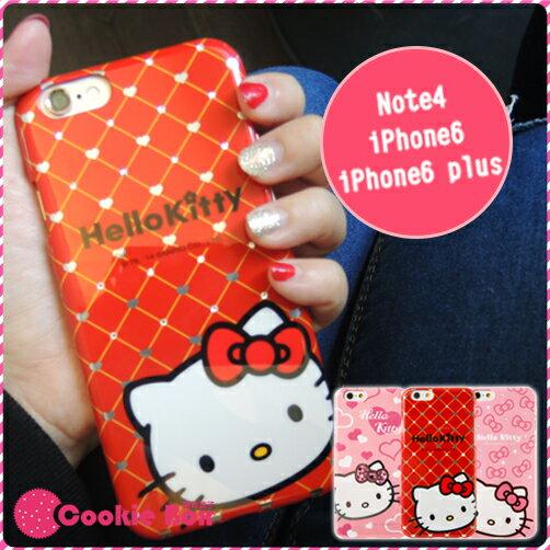 *餅乾盒子*正版 Kitty 凱蒂貓 水鑽 炫燦 手機殼 iphone 6 i6 plus note4 手機保護殼 硬殼
