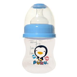『121婦嬰用品館』PUKU 寬口PP奶瓶 - 藍140ml 0