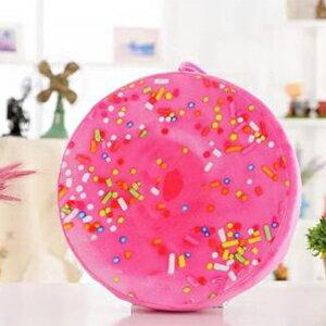 WallFree窩自在★創意3D仿真水果柔絨坐墊/抱枕/靠枕-甜甜圈