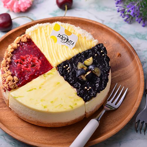 綜合四種口味-重乳酪蛋糕拼盤6吋