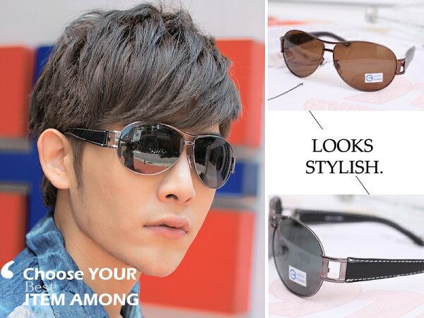 *911 SHOP*【os507】韓風雷朋款皮質鏡架太陽眼鏡。Polarized偏光鏡。開車抵抗艷陽