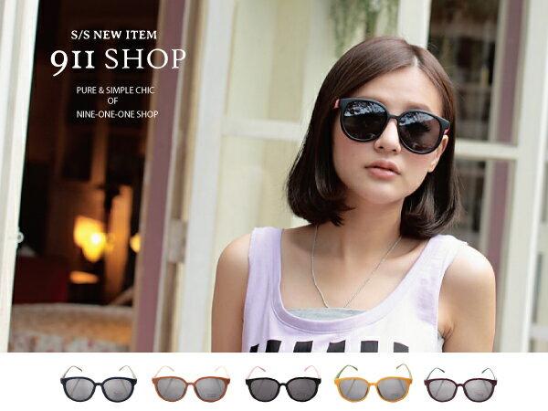 *911 SHOP*【od736】Vogue.繽紛撞色霧面框大橢圓框太陽眼鏡