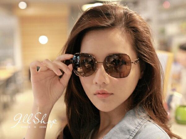 *911 SHOP*【f540】Love.MIT台灣製。金屬三圈大方框偏光太陽眼鏡