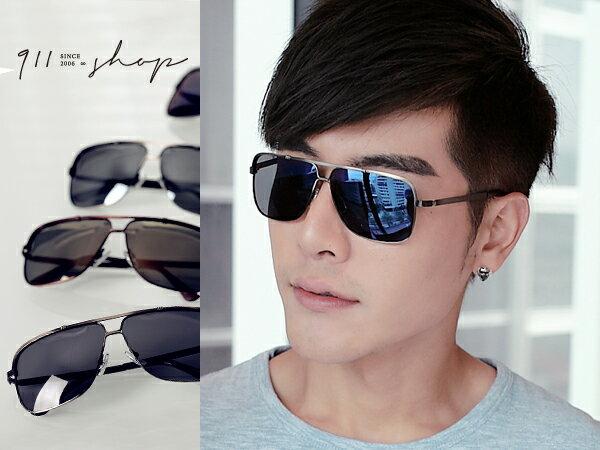 *911 SHOP*【f560】Bloom.MIT台灣製。金屬細方框雷朋水銀偏光太陽眼鏡