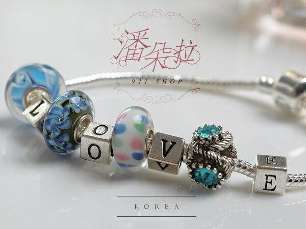 *911 SHOP*【ha436】XOXO.正韓空運潘朵拉訂作專屬仿舊金屬串珠-字母/數字