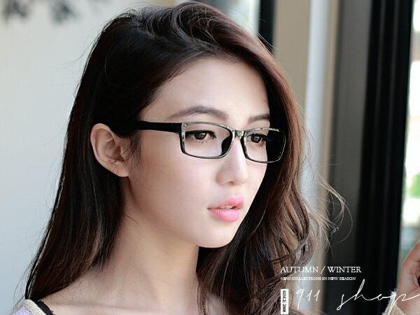 *911 SHOP*【od871】Chic.TR90塑膠鈦簡約彈性方框鏡架配鏡框眼鏡
