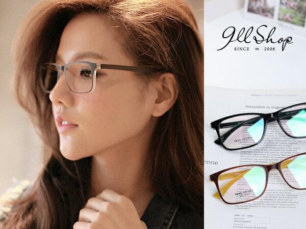 *911 SHOP*【p619】Cheer.TR90塑膠鈦果凍透感方框光學配鏡框眼鏡