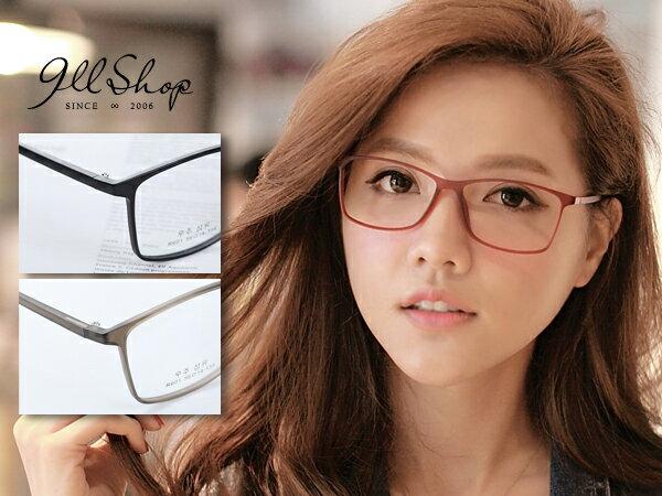 *911 SHOP*【p620】Cheer.超輕TR90塑膠鈦極細大方框光學配鏡框眼鏡