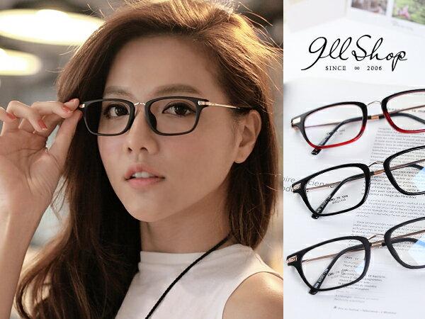 *911 SHOP*【p624】Cheer.TR90塑膠鈦MIX金屬花紋方框光學配鏡框眼鏡