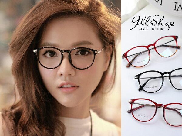 *911 SHOP*【p625】Cheer.TR90塑膠鈦MIX金屬花紋圓框光學配鏡框眼鏡