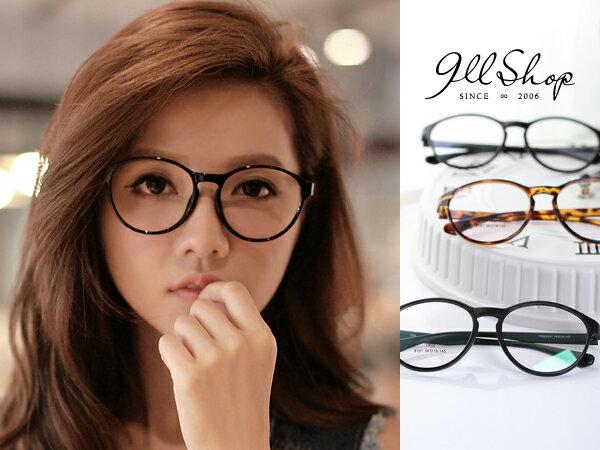 *911 SHOP*【p626】Cheer.超輕TR90塑膠鈦流行韓風大圓框光學配鏡框眼鏡