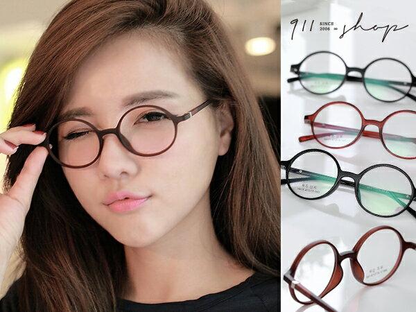 *911 SHOP*【p633】XOXO.超輕TR90塑膠鈦小圓框光學配鏡框眼鏡