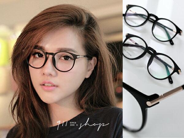 *911 SHOP*【p634】XOXO.韓風TR90塑膠鈦X金屬圓柱橢圓框彈性腳架光學配鏡框眼鏡