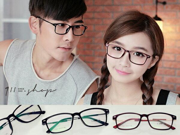 *911 SHOP*【p643】Bloom.超輕TR90磨砂方框金屬光學配鏡框眼鏡