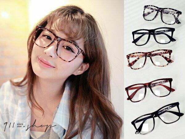 *911 SHOP*【p817】Bloom.MIT台灣製。韓版經典方形膠框中性平光眼鏡