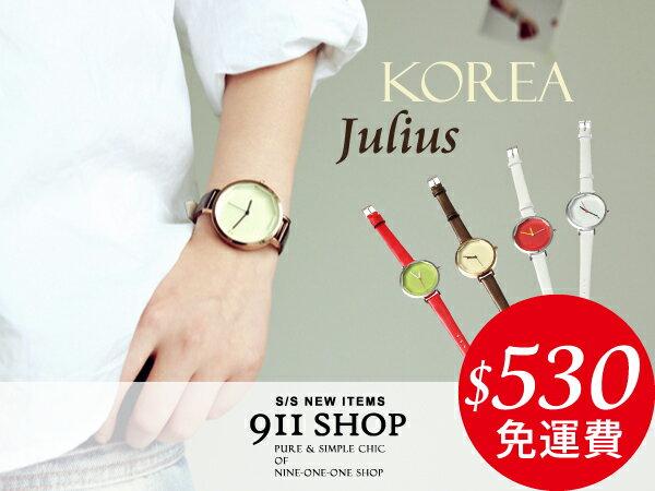 *911 SHOP*【ts80】韓牌Julius聚利時。立體切割錶面簡約手錶-現貨+預購-附盒/免運
