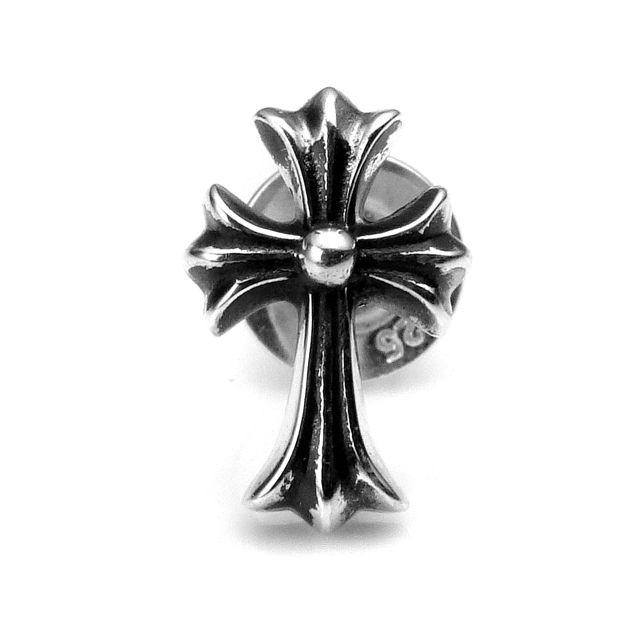 【海外訂購】【Chrome Hearts】十字架造型純銀耳環(CHE-037  0551150000) 1