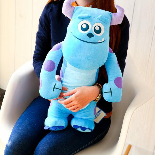 正版毛怪造型全身娃娃 抱枕 詹姆士·蘇利文 怪獸大學 怪獸電力公司 皮克斯 禮物 布偶 玩偶 玩具 (B060234)