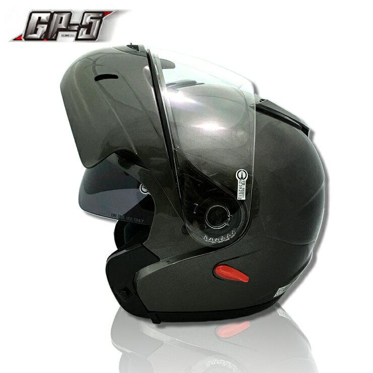 【頑騎】免運費【GP-5外銷限定款】全罩式可掀式安全帽(汽水帽 可樂帽) 素色 雙層鏡設計 台灣製造 共3色 0