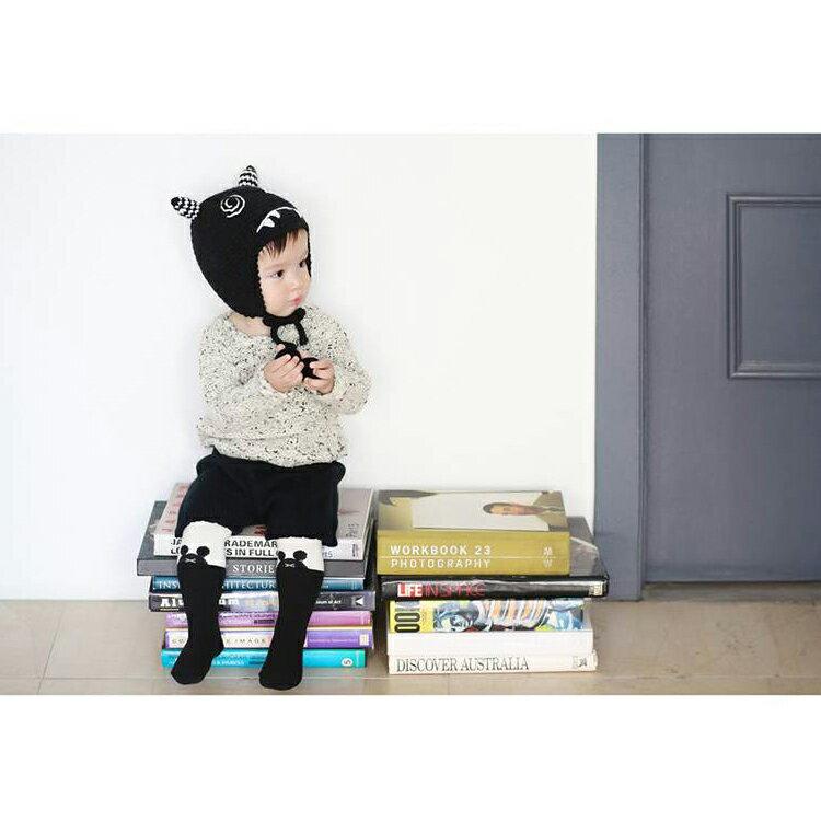 毛帽 萌卡通可愛綁帶針織毛線帽【YJM-A160】 BOBI  10/13 1