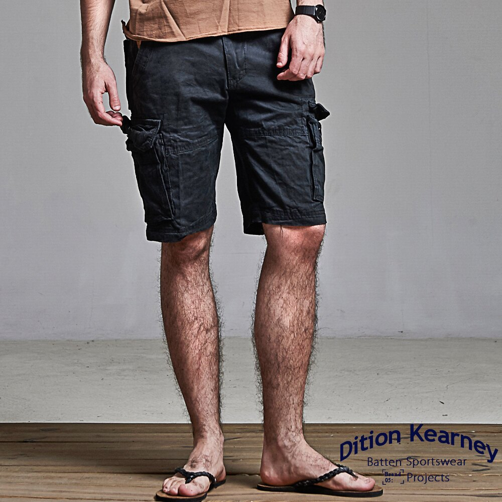 DITION  立體感多口袋 outer美式水洗工作短褲 2