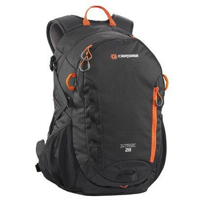 Caribee X-Trek 28 Hiking Backpack (black/blood orange) 0